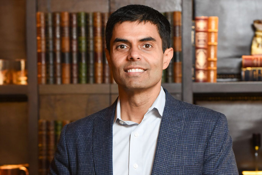 A close-up of Tarun Jolly, M.D. of Tarun Jolly Enterprises in New Orleans, LA